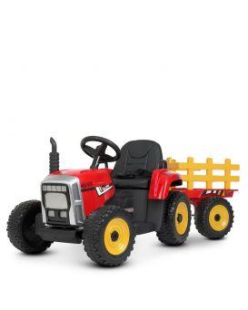 Трактор 86*52*53 с прицепом 40*40 см р/м 2,4 м 2 Мот. 35 Вт, 1 акк 12V/7AH, EVA, кожа, свет,