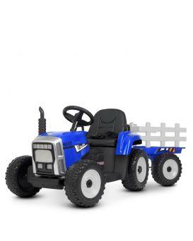 Трактор 86*52*53 с прицепом 40*40 см р/м 2,4 м 2 мот. 35 Вт., 1 акк 12V/7AH, EVA, кожа, свет,