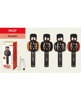 Микрофон «Караоке» 8х8х22 см, USB зарядка, в ассортименте, в коробке 26х10,5х10 см