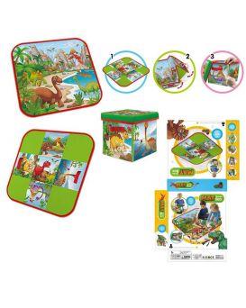 Корзина-сундук для игрушек 3 в1, коврик, стул, корзина для игрушек, разм в собраном виде 29*29*8 см
