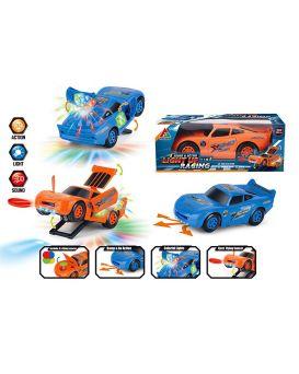 Игрушка музыкальная «Машина» на батарейке, свет, звук, в ассортименте, в коробке 22х10,5х7,5 см