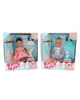 Кукла 11 см, животное, набор доктора, в ассортименте, в коробке, 15-16,5-4,5 см
