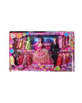 Кукла 2 шт.: 27 см и 28,5 см, с нарядом, платья, аксессуары, в ассортименте, в коробке 65х37х6 см