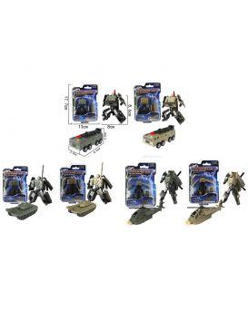 Трансформер 8см, робот+военная техника, в ассортименте, в пакете 13-18-5 см