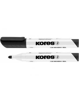 Маркер для белых досок KORES 1-3 мм, черный