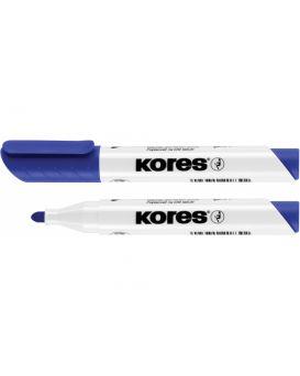 Маркер для белых досок KORES 1-3 мм, синий