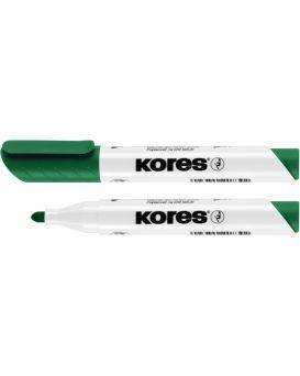 Маркер для белых досок KORES 1-3 мм, зеленый