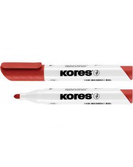 Маркер для белых досок KORES 1-3 мм, красный