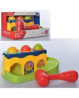 Игра стучалка, 24см, молоточек, мячики 3шт, 4,5 см, в коробке, 26-15,5-13см