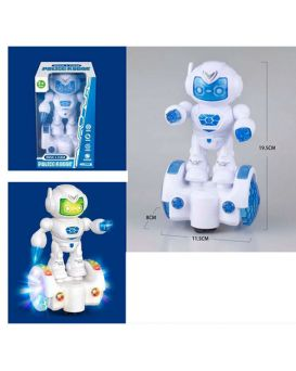 Робот 19,5 см, сигвей, звук, свет, ездит, на батарейке, в коробке, 12-20-9см