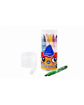 Фломастеры - кисточки, 21 цвета «Super Washable» в пластиковая банка, ТМ Marco