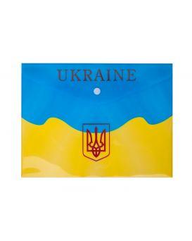 Папка - конверт B5 на кнопке «UKRAINE» желтая