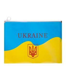 Папка на ZIP А4, UKRAINE, жовтий