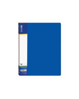 Папка пластиковая А4 с 30 файлами Economix, цвет синий.