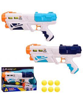 Бластер стреляет водой и поролон. пулями, поролон. шарики комплекте, в ассортименте, в кор.