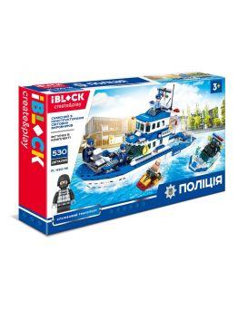 Конструктор IBLOCK «ПОЛИЦИЯ» 530 деталей, в коробке 53х31х7 см