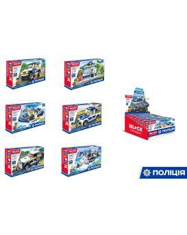 Конструктор IBLOCK «Полиция» 79-103 деталей, инструкция на укр. языке, в боксе 20,5х25,5х12,5 см