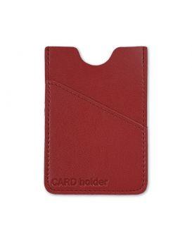 Кардхолдер 105х60 мм, на 6 карт «Frankfurt» красный