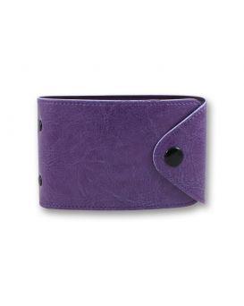 Визитница на 48 визиток формат 80 х 120 мм «Sarif» фиолетовая, закругленные углы