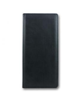 Визитница на 96 визиток формат 118 х 245 мм «Winner» черная, закругленные углы