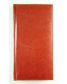 Алфавитная книга с регистром 112 арк., «Sarif» цвет красно-коричневый