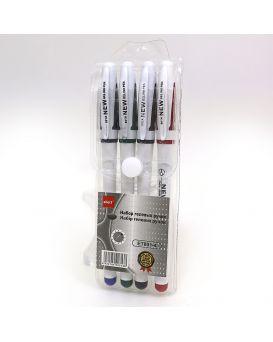 Набор гелевых ручек 4 цвета, 0,5 мм,