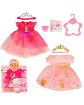Одежда для кукол, платье, корона, в ассортименте, в пакете 22,5х31 см