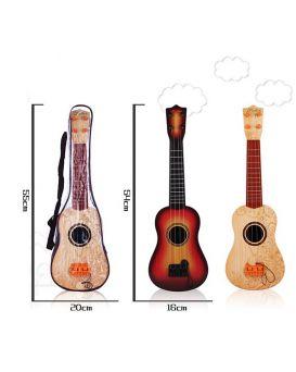 Гитара с ремешком, медиатором, в ассортименте, в чехле 55х20 см