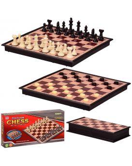 Шахи «2 в 1» 24х24х2 см, у коробке 24х4х12 см