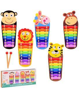 Деревянная игрушка «Ксилофон» 33х14х3 см, в ассортименте, в коробке 35х4х15,5 см