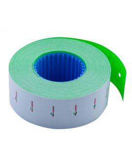Ценник 12 метров, 22 х 12 мм, 1000 шт., прямоугольный, внутренняя намотка, зеленый
