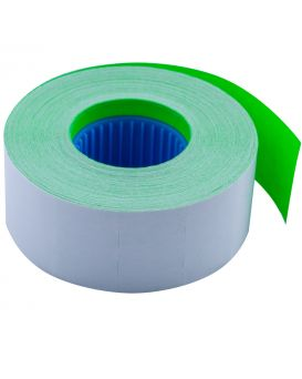 Ценник 26*16мм (1000шт, 16м), прямоугольный, внутренняя намотка, зелений