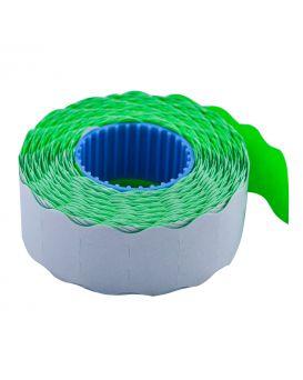 Ценник 22*12мм (1000шт, 12м), фигурный, внутренняя намотка, зелений