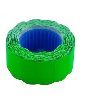 Ценник 22*12мм (500шт, 6м), фигурный, внешняя намотка, зелений