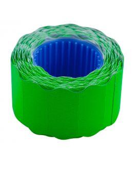 Ценник 6 метров, 26 х 12 мм, 500 шт., фигурный, наружная намотка, зеленый