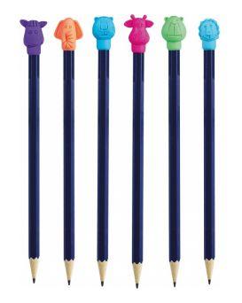 Ластик-насадка на карандаш Animal World 23*16*15 мм, ассорти