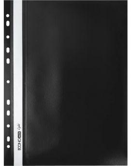 Папка - скоросшиватель А4 Economix Light с перфорацией, черная