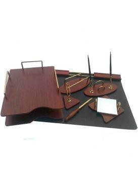 Настольный канцнабор 7S-1A деревянный, 7 предметов,ТМ