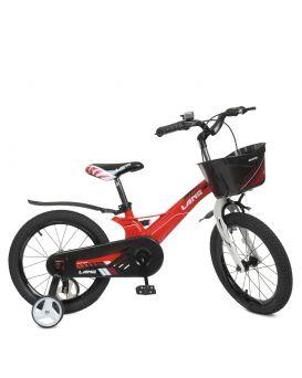 Велосипед детский 2-х кол. 18 дюй. «Hunter SKD 85» магниевая рама, корзина, звонок, доп.кол, красный