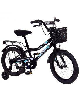 Велосипед детский 2-х кол. 16 дюймов с звонком «Like2bike Archer» рама сталь, ручные тормоза, черный