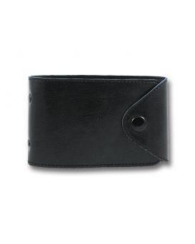 Визитница на 48 визиток формат 80 х 120 мм «Sarif» черная, закругленные углы