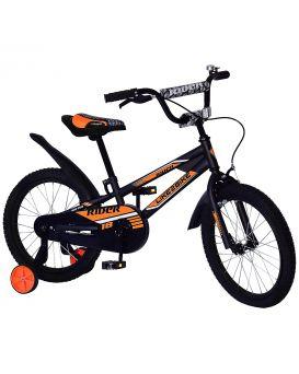 Велосипед детский 2-х колесный, 18 дюймов «Like2bike Rider» звонок, рама сталь, руч.тормоза, черный