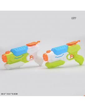 Водный пистолет с насосом 30х18х6 см, в пакете