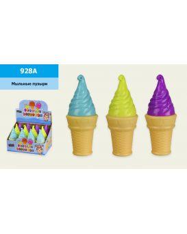 Мыльные пузыри «Мороженое» в ассортименте, 12 шт. в дисплей боксі 23х17х14,5 см