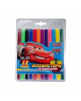 Фломастеры 12 цветов «Cars» ТМ 1 Сентября