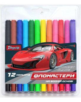 Фломастеры 12 цветов «MAXDRIFT» ТМ 1 Сентября