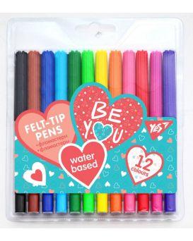 Фломастеры 12 цветов «Be YOU» ТМ YES