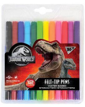 Фломастеры 12 цветов «Jurassic World» ТМ YES