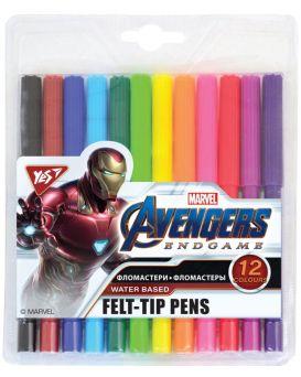 Фломастеры 12 цветов «Marvel. Avengers» ТМ YES