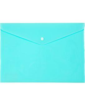 Папка - конверт А4 на кнопке «Рastelini» мятная